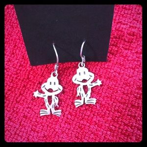 Jewelry - ♥️🐸Sterling frog earrings!